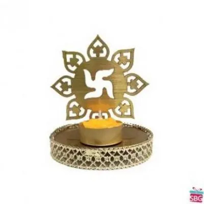 Swastik Shadow Diya
