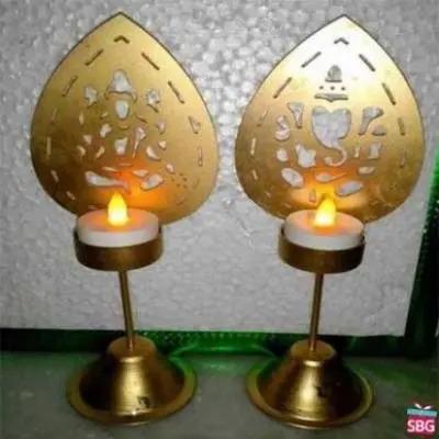 Laxmi Ganesh Shadow Diya
