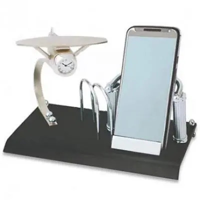 Card Holder, Mobile Stand,Memo Pad and Clock