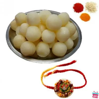 1 Rakhi With Rasgulla
