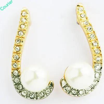Long Pearl Diamond Earings