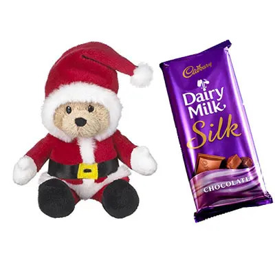 Santa Claus with Cadhury Dairy Milk Silk