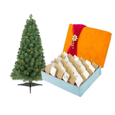 Christmas Tree With Kaju Katli