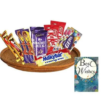 Mixed Chocolates Hamper With Card