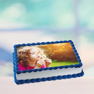 Vanilla Photo Cake Square