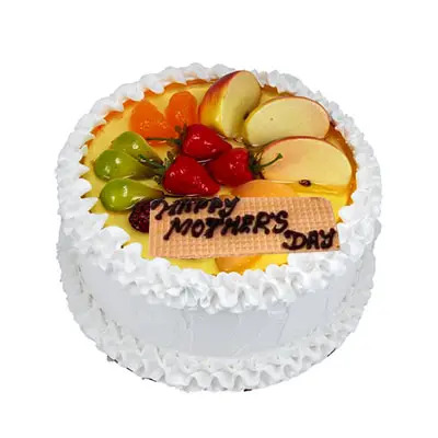 Happy Mothers Day Fresh Fruit Cake
