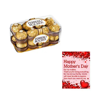 Ferrero Rocher With Mothers Day Card
