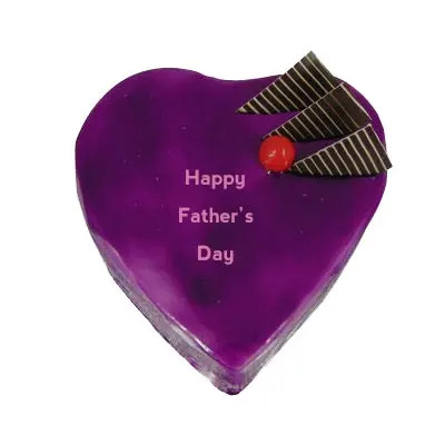 Happy Fathers Day Heart Shape Blueberry Cake
