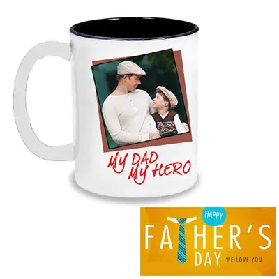 Personalized Dad Photo Mug & Greeting Card