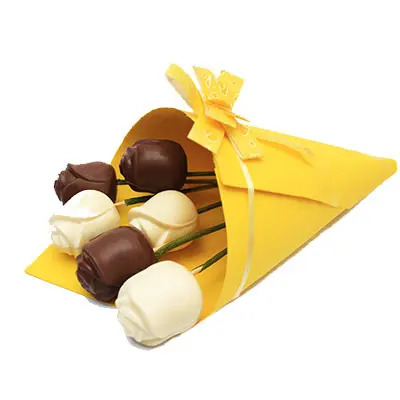 Milk and White Chocolate Roses Pack of 6