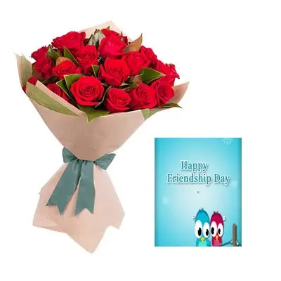 Red Roses Bouquet With Card