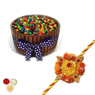 Rakhi with Kitkat Cake