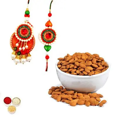 Bhai Bhabhi Rakhi With Almonds