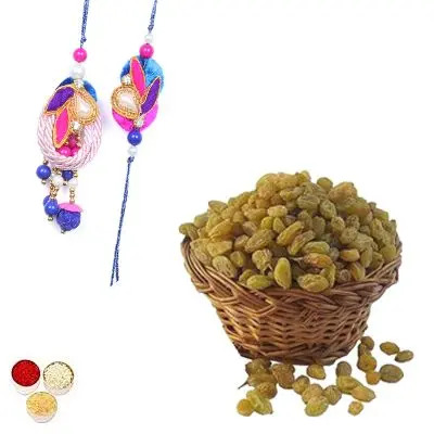 Bhai Bhabhi Rakhi with Raisins