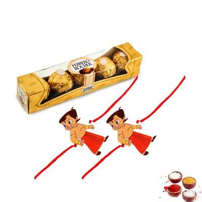 Chota Bheem Rakhi With Ferrero
