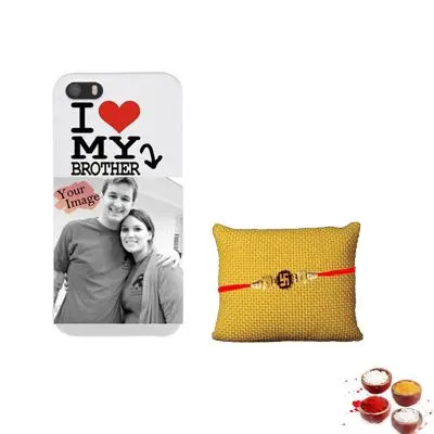 Photo Mobile Cover With Rakhi