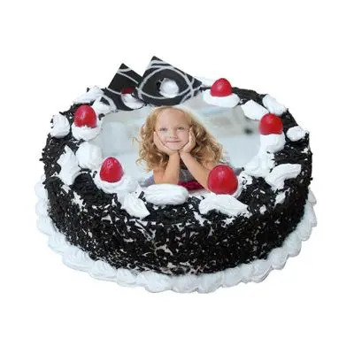 Black Forest Photo Cake Round