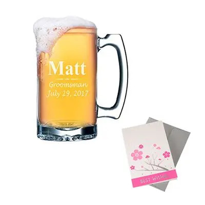 Personalized Beer Mug with Greeting Card