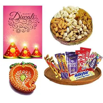 Diwali Dry Fruits & Chocolates Hamper