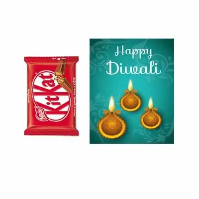 Diwali Greetings with Kitkat Chocolates