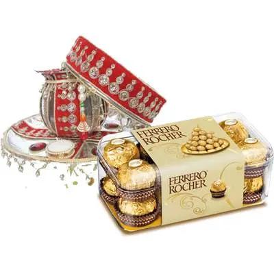 Karwa Chauth Thali with Ferrero Rocher