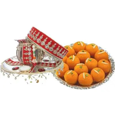 Pooja Thali with Laddu