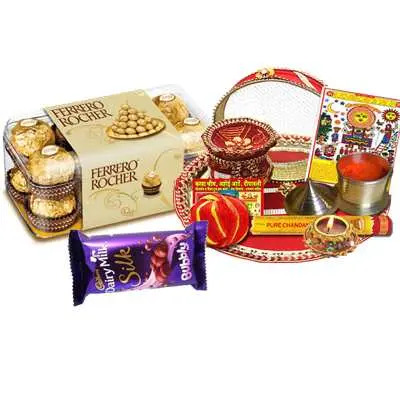 Thali with Ferrero Rocher & Dairy Milk