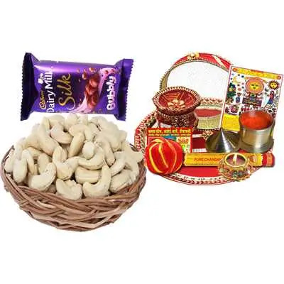 Thali with Dairy Milk & Cashew