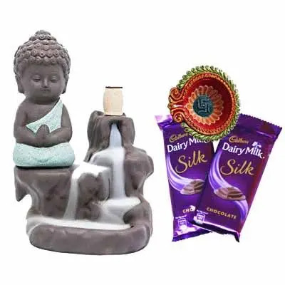 Buddha Fog with Dairy Milk Silk & Diya