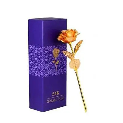24K Golden Rose with Box