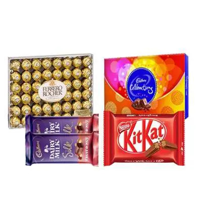 Ferrero Rocher, Cadbury Celebration, Kitkat & Dairy Milk Silk