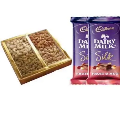 Mixed Dry Fruits with Dairy Milk Silk