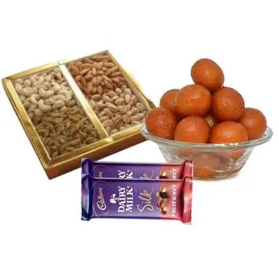 Mixed Dry Fruits with Gulab Jamun & Silk