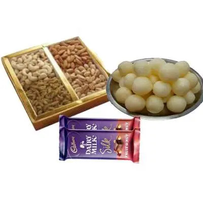 Mixed Dry Fruits with Rasgulla & Silk