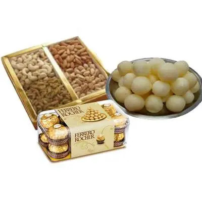 Mixed Dry Fruits with Rasgulla & Ferrero Rocher