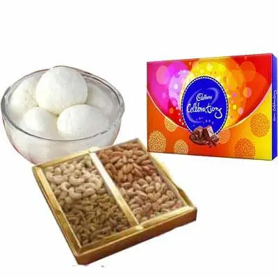 Rasgulla with Celebration & Dry fruits