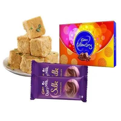 Soan Papri with Celebration & Silk