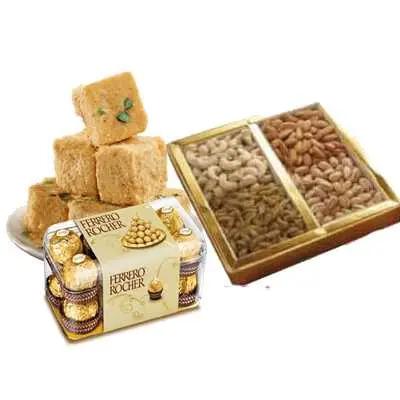 Soan Papri with Ferrero Rocher & Mixed Dry Fruits