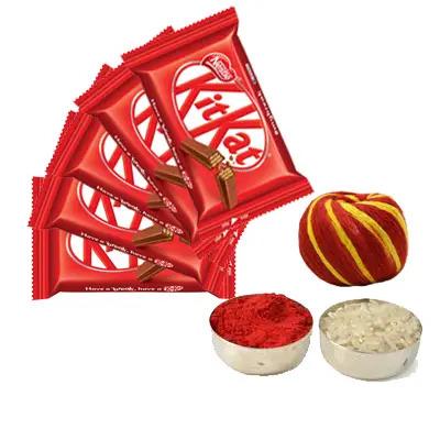 Kitkat with Roli Chawal & Moli
