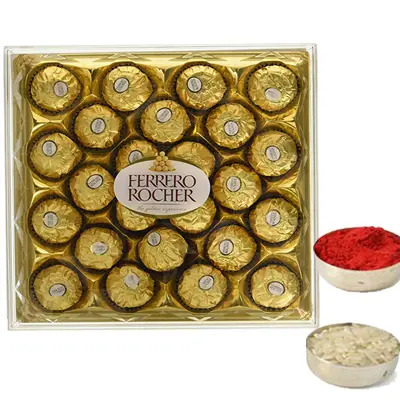Ferrero Rocher with Roli Chawal