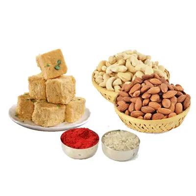 Soan Papdi with Almonds, Cashew & Roli Chawal