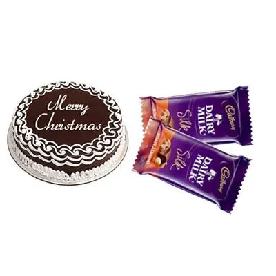 Christmas Cake with Dairy Milk Silk