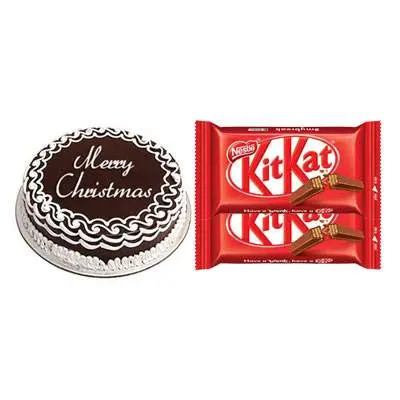 Christmas Cake with Kitkat Chocolates