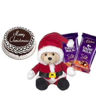 Christmas Cake with Santa Claus & Silk