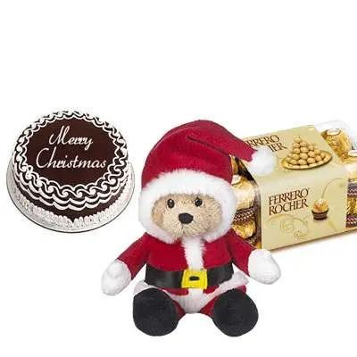 Christmas Cake with Santa Claus & Ferrero Rocher