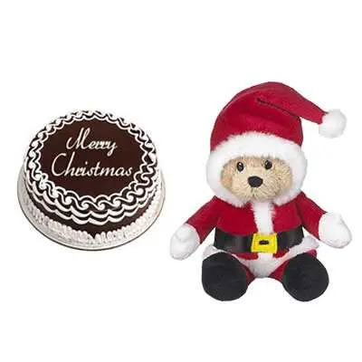 Christmas Cake with Santa Claus