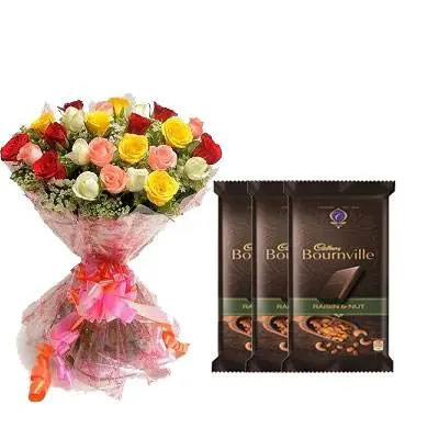 Mix Roses Bouquet with Bournville
