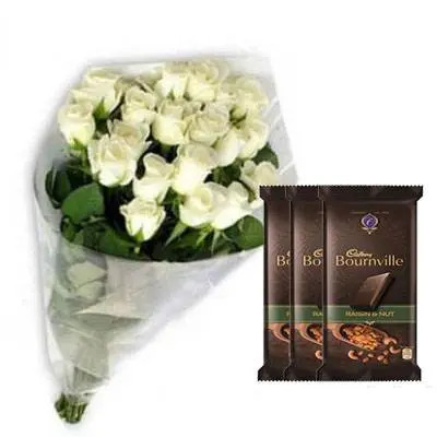 White Roses with Bournville