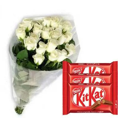 White Roses with Kitkat