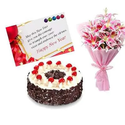 Lily, New Year Card & Black Forest Cake